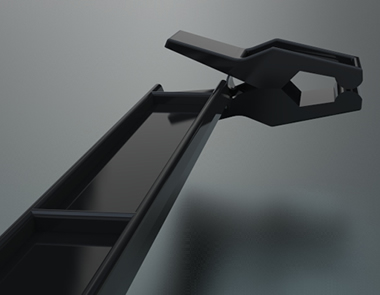 Black Plastic 9 ½ Pant Hanger with clips
